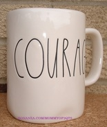 Rae Dunn COURAGE Coffee Mug Tea Cup Artisan Collection Farmhouse Letters - $13.00