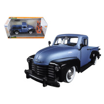 1953 Chevrolet Pickup Truck Blue/Black Just Trucks with Extra Wheels 1/2... - $55.63