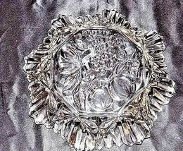 Glass Bowl with Detailed Fruit Etched Design AA18-11910 VintageHeavy image 3