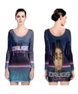 Falling In Reverse drugs Women Sexy Long Sleeve Bodycon  Dress - $24.80+