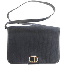 Vintage Christian Dior black logo jacquard shoulder bag, clutch bag with... - $272.00
