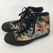 Converse Chuck Taylor Womens Hi Top Sneakers Sz 6.5 Black Digital Floral... - $65.57 CAD
