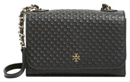 Tory Burch  Marion Embossed Shrunken Shoulder Black  Cross Body Bag   - $229.00