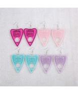 Handmade Cute Glitter Pastel Heart Ouija Board Drop Earring Resin Korean... - $2.99