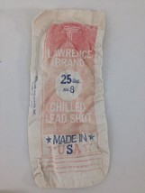 Antique Lawrence Brand Chilled Lead Shot 25 lbs. No. 8 Shot of Champions... - $13.81