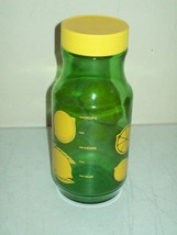 vintage Anchor Hocking lemon/lime bottle repurposed Lemonade beverage jar - $4.95