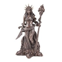 Greek Witchcraft Pagan Hecate Statue Bronze Patina - $49.50