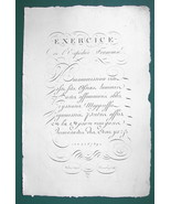"1826 PENMANSHIP Calligraphy Exercise & Flourishes - 12"" x 18"" Superb Pri... - $37.09"