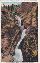 Seven Falls South Cheyenne Canon Stratton Park Colorado Springs CO Postc... - $2.99