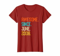 Dad Shirts - Born in June 2008 Shirt Vintage 10th Birthday Shirt Him Her... - $19.95+