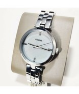 Fossil Suitor Stainless Steel  BQ7020 Silver Tone Women's Watch MSRP $135 - $69.95