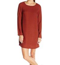 Medium prAna Women's CeCe Dress Scoop Neck Shift Long Sleeve Woven Crepe NEW
