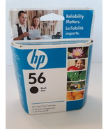 HP 56 Black Ink Cartridge # C6656AC Date March 2009  - $5.99
