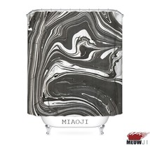 [MIAOJI] Luxury Tonal Art Paint Marble Black Gold Fabric Shower Curtain Multi Si - $41.81