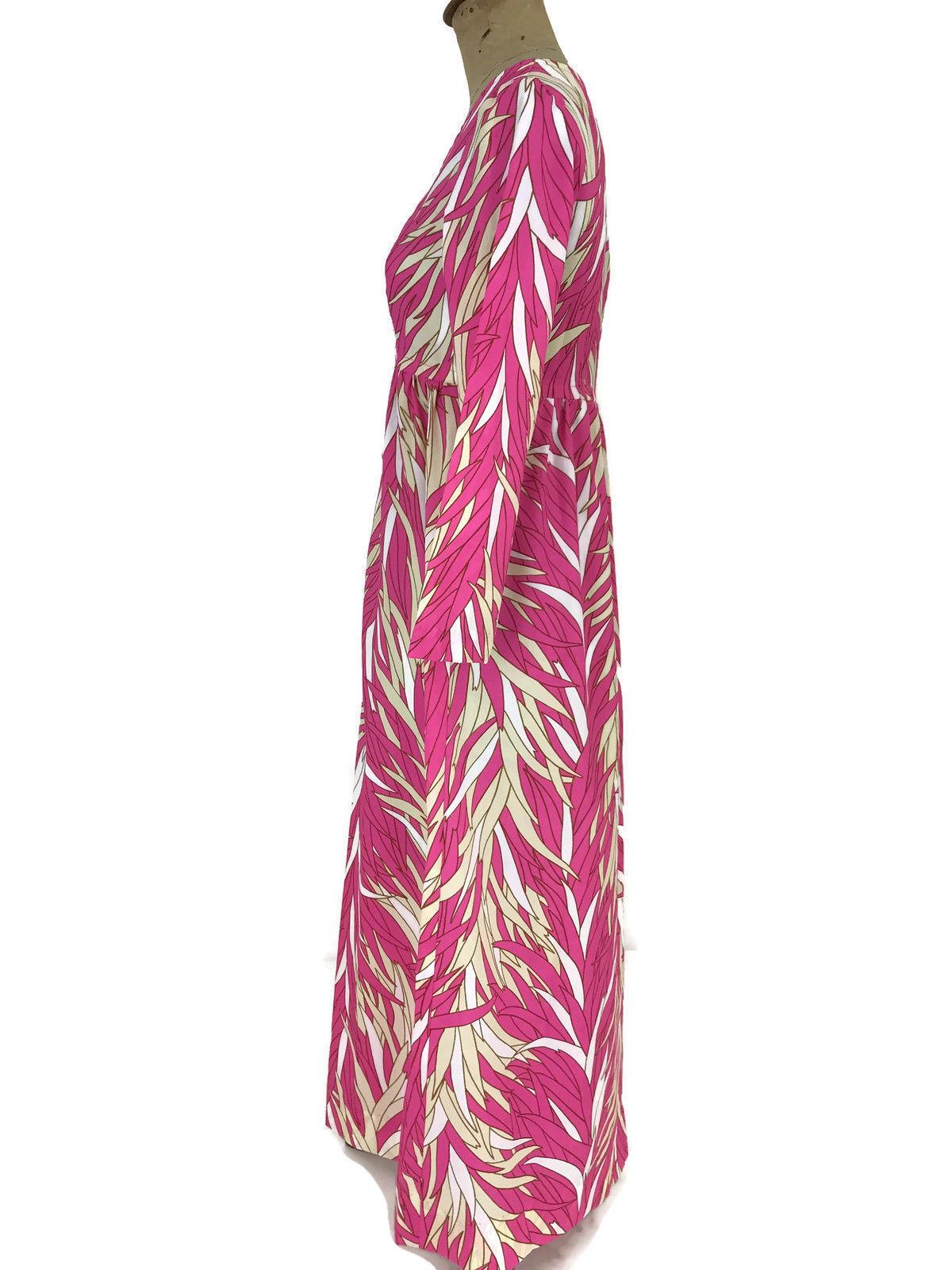 5b567cf534ca Vintage Ca. 1970s Sears Hawaiian Fashions Women's Dress Hot Pink Tropical  MuuMuu