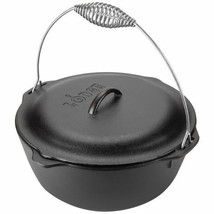 Traditional Dutch Oven w/ Wire Bail Home Kitchenware Cooking Equipment 7 qt - $75.45