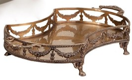 16''L ANTIQUE STYLE BRASS GARLAND FOOTED TRAYS,SET / 2! - €189,20 EUR