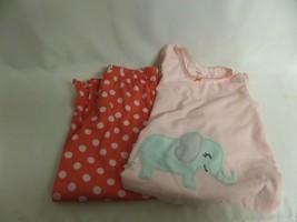 Girls Carters 4T 2PC Long Sleeve Pj Set Pajama Elephant Polka Dots - $16.70