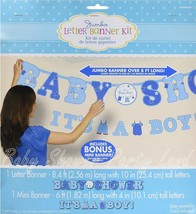 IT'S A BOY JUMBO LETTER BANNER KIT BABY SHOWER DECORATION PARTY SUPPLIES  - $12.19