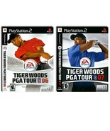 """x2 Tiger Woods PGA Tour """"06 & """"07, SONY PlayStation 2 Games, Excellent C... - $34.99"""