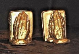 Hands Praying and a Holy Bible Bookends AA18 - 1066 Vintage image 3