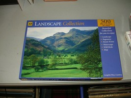 "AA Landscape Collection ""Langdale Cumbria"" 500 Piece Jigsaw Puzzle Open ... - $14.84"