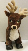 "BUILD A BEAR TEAM SANTA DARK BROWN REINDEER 18"" CHRISTMAS HOLIDAY PLUSH TOY - $11.99"