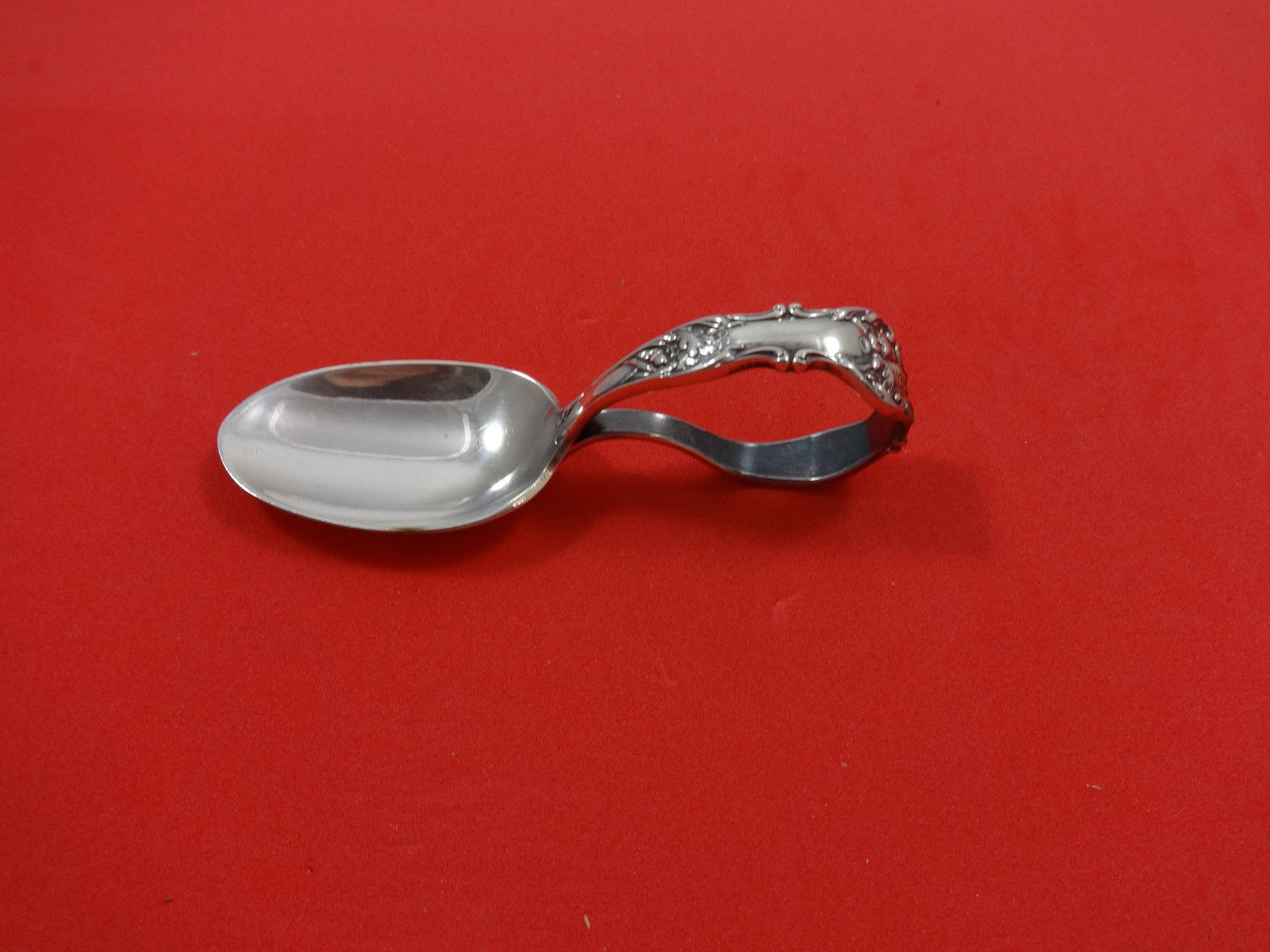 Primary image for Charter Oak by 1847 Rogers Plate Silverplate Curved Baby Spoon 3 1/2""