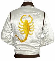 Drive Jacket Scorpion   White Ryan Gosling Premium Quality Satin Bomber ... - $49.99+