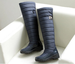 pb199 retro over knee snow boots, double thickness down US Size 5-11, black - $1.523,16 MXN