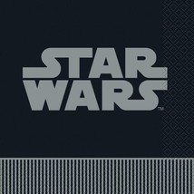 Star Wars  Lunch Napkins Striped Edge Birthday Party Supplies 16 Per Pac... - $3.91