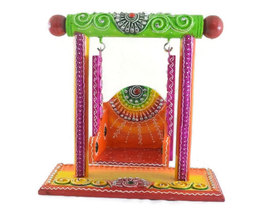 Wooden Handmade Hand painted Jhula Decorative Artistic - $44.99