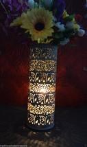 "10"" Marble Soapstone Flower Vase Home Decor Pot Cylindrical Shape Decor Gifts - $204.78"