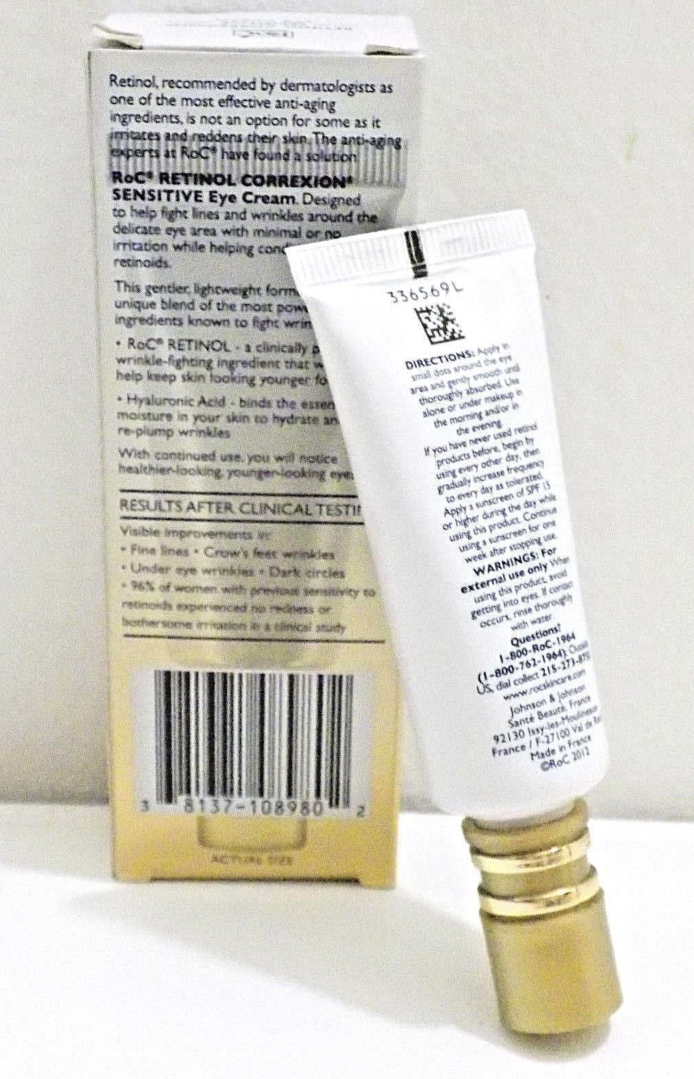 Roc Retinol Correxion Sensitive Skin Eye Cream .05 Oz.