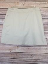 ADIDAS CLIMACOOL SKORT Skirt with Shorts Underneath Golf Tennis Beige SZ 8 - $18.65