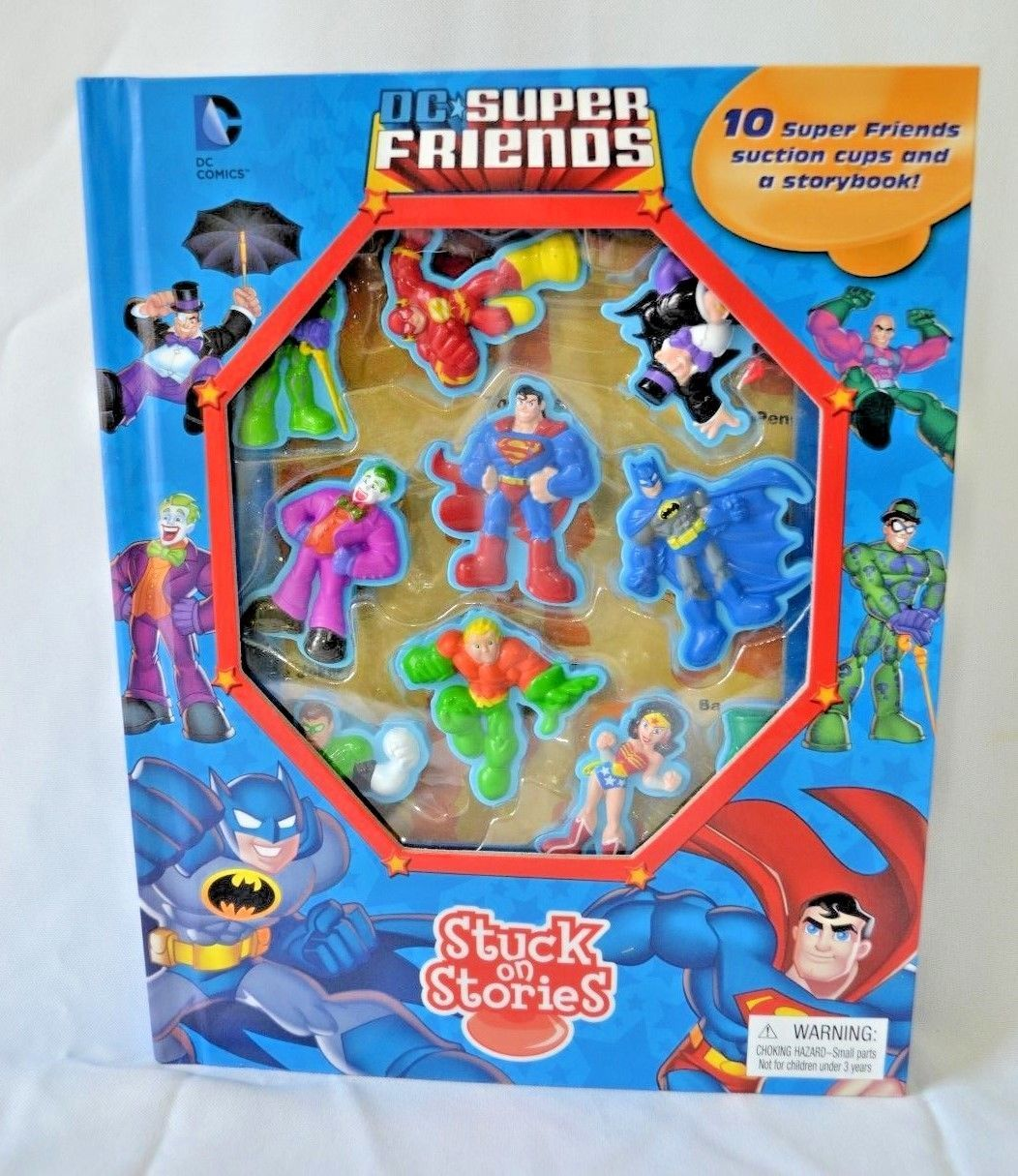 Primary image for DC Comics Super Friends Stuck On Stories 10 Characters Storybook Batman Superman