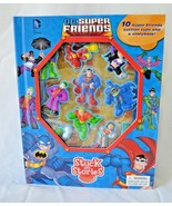 DC Comics Super Friends Stuck On Stories 10 Characters Storybook Batman ... - $19.99