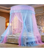 Bed Canopy Mosquito Net - Princess Elegant Lace Round Sheer Mesh Bed Cur... - $83.99+