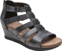Rockport Cobb Hill Shona Gladiator Sandal (Women's) in Black Haze Leathe... - $135.19