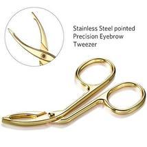 3 Pack Eyebrow Tweezers, Scissors Shaped Eyebrow Straight Tip Tweezers Clip, Fla image 4