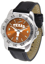 Texas Longhorns Men Sport AnoChrome Leather Band Watch - $61.75