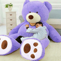 "78""/200cm Giant Huge Big Purple Teddy Bear Plush No Filler Animal Soft T... - $48.00"