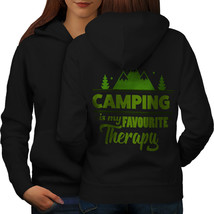 Camping Therapy Sweatshirt Hoody Outdoor Women Hoodie Back - $21.99+