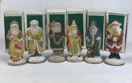 Lot of 6 Vintage Heilig-Meyers Santas from Around the World Collection F... - $34.29