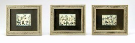 Lot 3 Antique Persian Handmade Miniature Painting on Bone Islamic Artwork Framed image 1