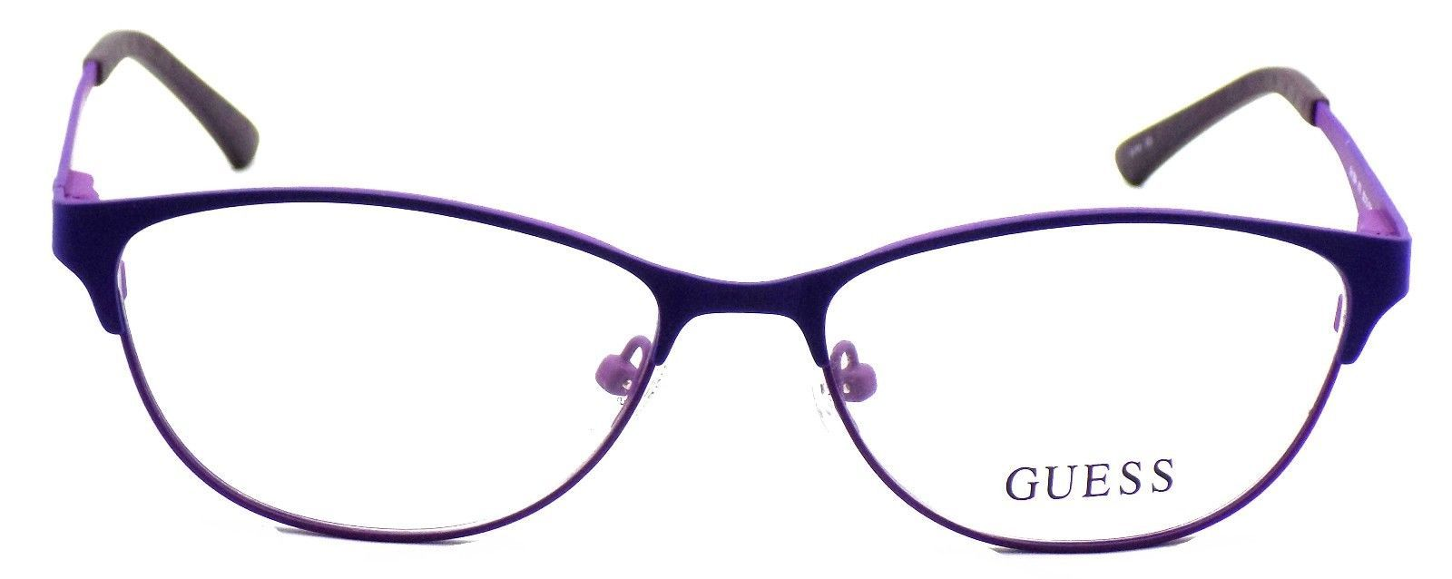 GUESS GU2504 079 Women's Eyeglasses Frames 53-15-135 Matte Lilac  + CASE