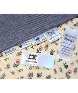 30PCS Custom clothes name label sew in hanging tag garment school Person... - $6.87