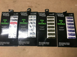 FANTASY MAKERS foil & trouble NAIL STICKERS - CHOOSE YOUR COLORS - $4.49