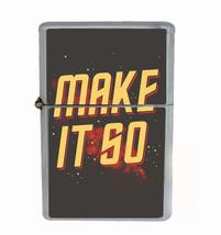 Make It So Rs1 Flip Top Oil Lighter Wind Resistant With Case - $13.95