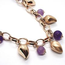 Silver necklace 925, Pink, amatista Purple, Peppers Curved pendants image 3